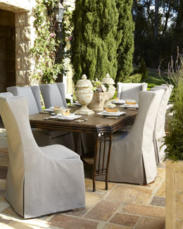 """Shangri-La"" Dining Table & Upholstered Chair"