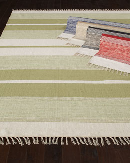 "Exquisite Rugs ""Blasio Stripes"" Flatweave Rug"