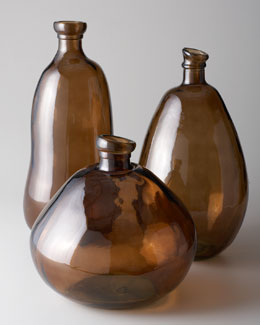 Shiraleah Home Fashion Accessories Brown Glass Vases