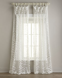 "Isabella Collection by Kathy Fielder ""Zebra"" Sheer Curtains"