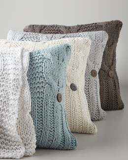 Cable-Knit Pillow & Throw