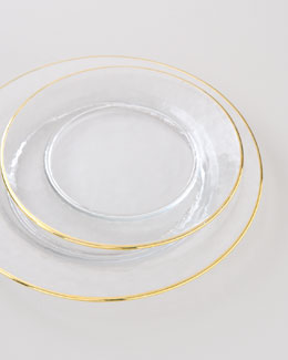 Gold-Rimmed Dinnerware