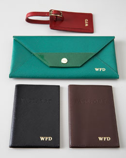"Abas ""Saffiano"" Leather Travel Accessories"