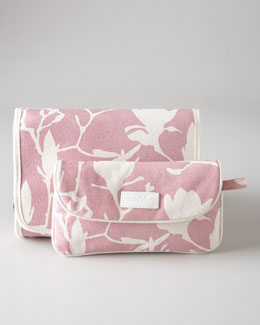"""Magnolia Shimmer"" Travel Toiletry & Cosmetics Bags"