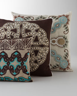 Applique and Beaded Pillows