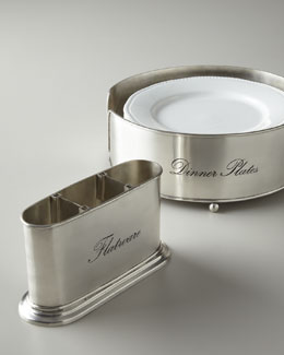 Towle Silversmiths Buffet Flatware & Dinner Plate Caddies