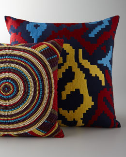 Hand-Embellished Pillows