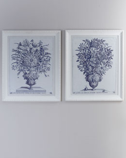 """Blue Botanical Urn"" Prints"