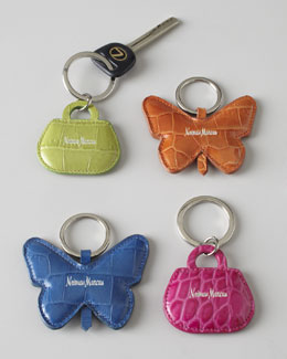Embossed Leather Key Rings