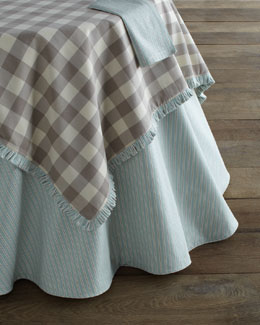 "French Laundry Home ""Buffalo Check"" & ""Zipper Ticking"" Table Linens"