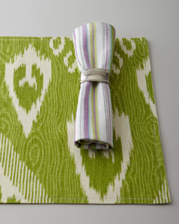 "French Laundry Home ""Pretty Purple"" Napkins & Ikat Placemats"