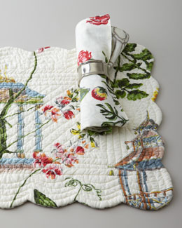 """Garden Folly"" Reversible Napkins & Placemats"