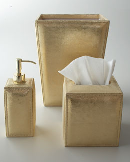 "Mike & Ally ""Aurora"" Metallic Leather Vanity Accessories"