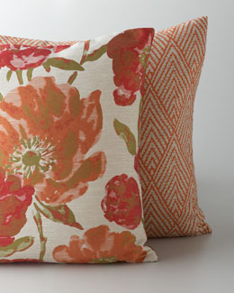 """Tahiti"" & ""Lauren Poppy"" Pillows"