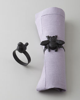 "Park Hill Collections ""Bee"" & ""Bird"" Napkin Rings"