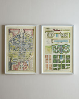 """18th Century Garden Plans"" Giclees"