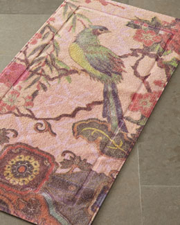 """Tropical Peacock"" Bath Mats"