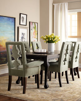 "Haute House ""Tuscan"" Dining Table & ""Seabrook"" Seating"