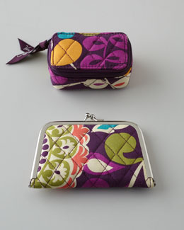 "Vera Bradley ""Plum Crazy"" Travel Accessories"