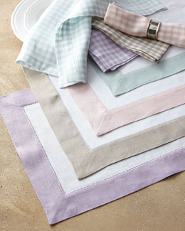 SFERRA Colorblock Placemats & Gingham Napkins