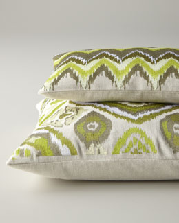 Green & Taupe Pillows