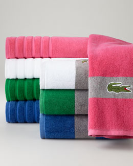 Lacoste Signature Stripe Towels & Solid Towels