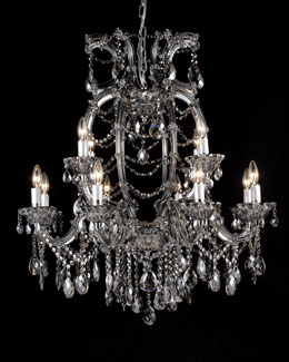 """Smoke"" Crystal Chandelier"