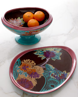 "Tracy Porter ""Vivre"" Platter & Footed Serving Bowl"