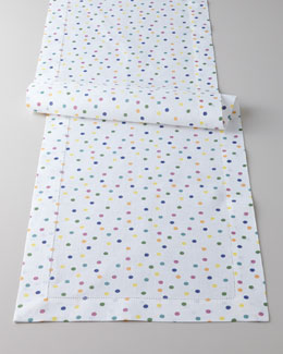 "SFERRA ""Dots & Colorblock Bolero"" Table Runner"