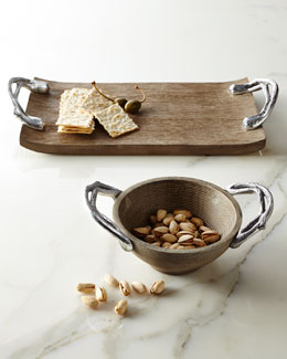 STAR HOME DESIGNS Weathered-Wood Serveware