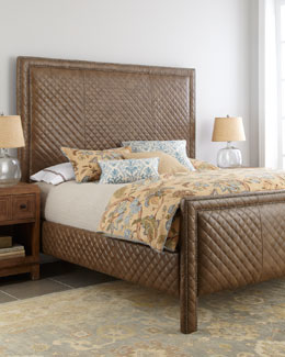 "Old Hickory Tannery ""Cicily"" Diamond-Quilted Bed"