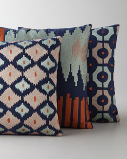 "Sabira ""Bali"" Ikat Embroidered Pillows"