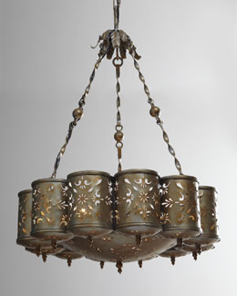 Janice Minor Pierced Metal Chandelier