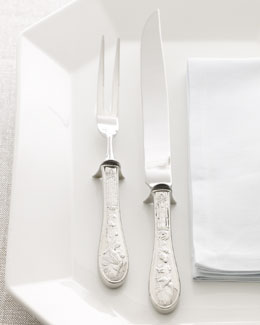 Ricci Silversmiths Two-Piece Japanese Bird Carving Set