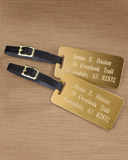Two Personalized Luggage Tags