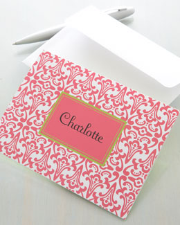 """Frill"" Pink Notecards"