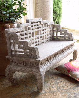 Asian Maze Back Bench
