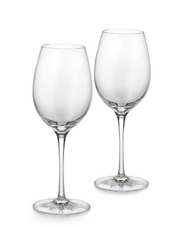 "Waterford Crystal Two ""Light"" Red Wine Glasses"