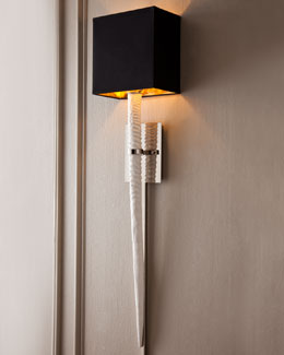 "BARBARA COSGROVE White ""Stingray"" Sconce"