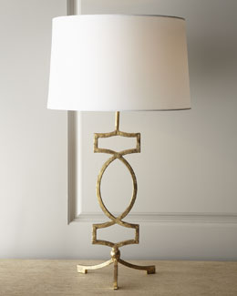 Gold-Leaf Iron Lamp
