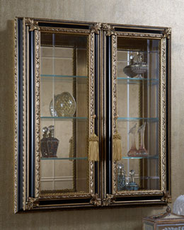 Black & Gold Wall Vitrine