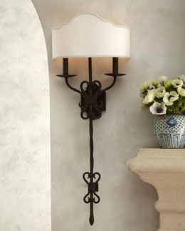 """Old World"" Iron Sconce"