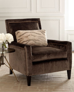 "Old Hickory Tannery ""Paulina"" Velvet Chair"