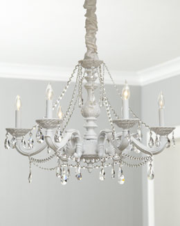 "White ""Abbi"" Chandelier"