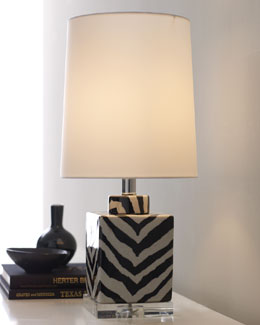 Zebra Base Table Lamp
