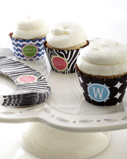 THE PAPER MENU 24 Personalized Cupcake Bands