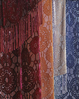 "Kevin O'Brien Studio Lace-Pattern Throw, 52"" x 74"""