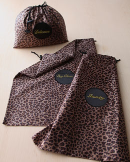 Three Leopard-Print Travel Bags