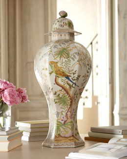 """Perched Birds"" Table Jar"