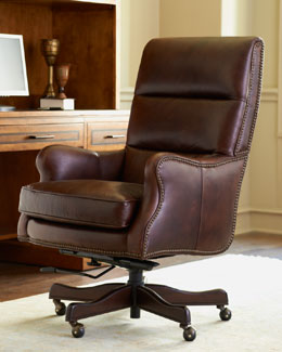 """Bryant"" Leather Office Chair"